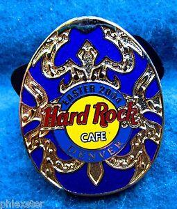 Denver-Oro-Decorativa-Azul-Huevo-de-Pascua-Serie-2004-Hard-Rock-Cafe-Pin-Le