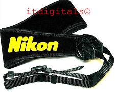"""For Nikon 2.5"""" inch Wide Camera Shoulder Neck Strap SLR DSLR Digital Film Black"""