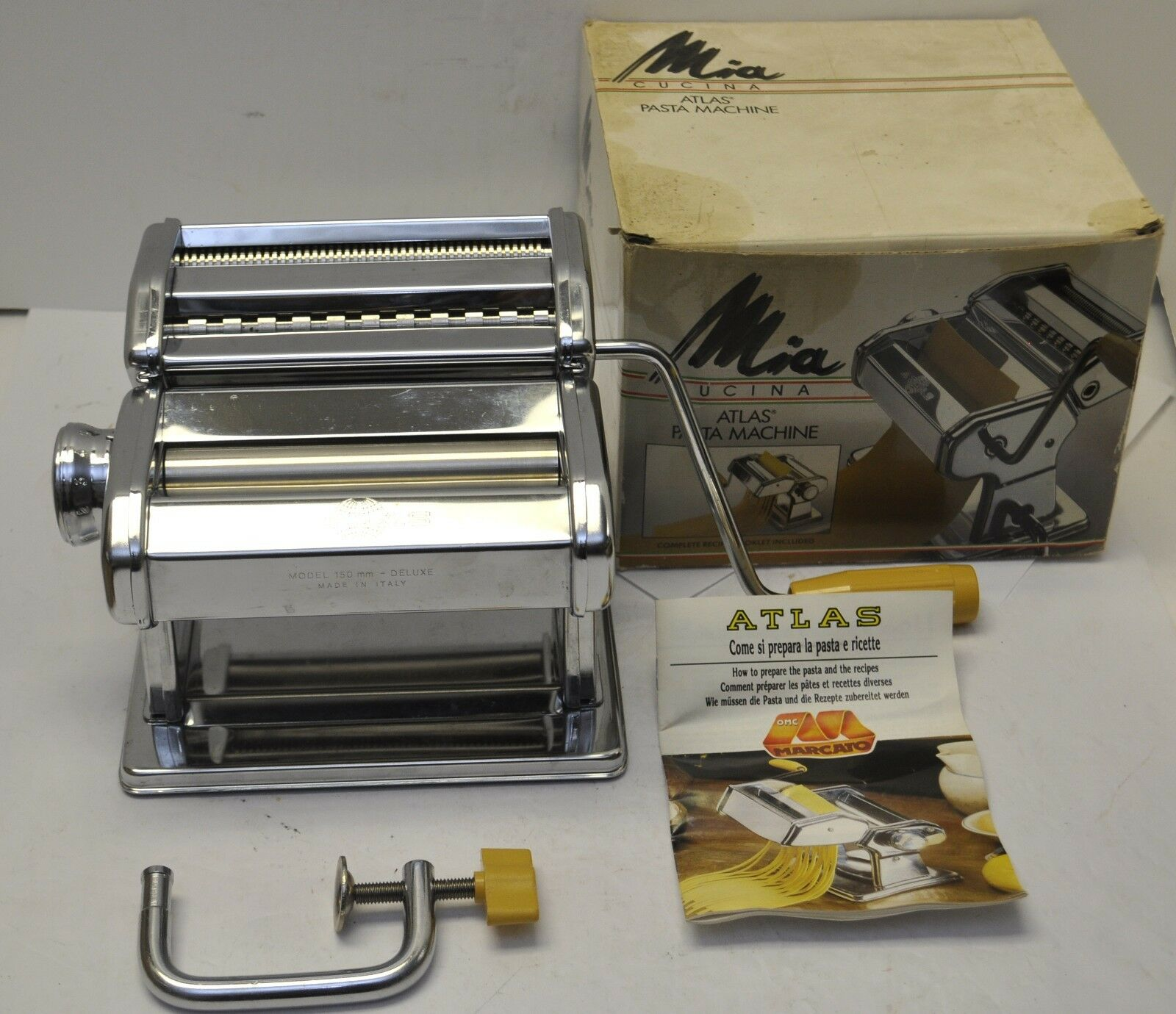 Marcato Atlas OMC Delux Mia Cucina 150 mm Pasta Maker Made in