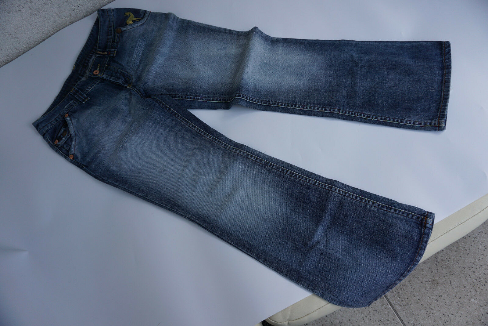 Tom Tailor Damen Jeans Limited Edt Tribute to Bambi Gr.40 L32 Stickerei used L.=