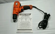"""Black and Decker 3/8"""" 5-amp Variable Speed Drill with Keyless Chuck, DR260B"""