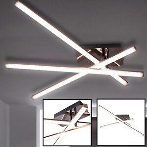 LED 15 Watt Decken-Lampe Wohnzimmer beweglich Stahl Spiegel Stab ...