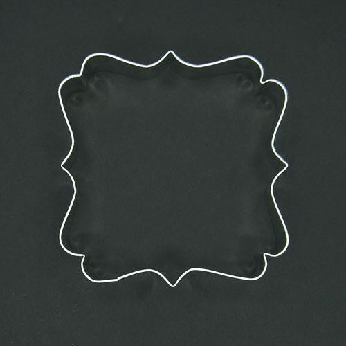 "FANCY SQUARE PLAQUE 4"" METAL COOKIE CUTTER FONDANT FRAME STENCIL AWARD LOGO NEW"