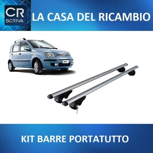 KIT BARRE PORTATUTTO PORTABAGAGLI PORTAPACCHI PREMONTATE FIAT PANDA II 2003/>2011