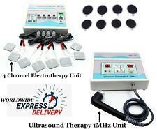Combo Ultrasound Therapy 1 Mhz Machine 4 Channel Electrotherapy Pain Relief Unit