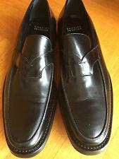 Charles Jourdan Halbschuhe Slipper Moccasin Leder schwarz UK 11.5 EUR 46 US 12.5