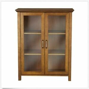Floor cabinet with glass doors bathroom furniture small for Small foyer cabinet