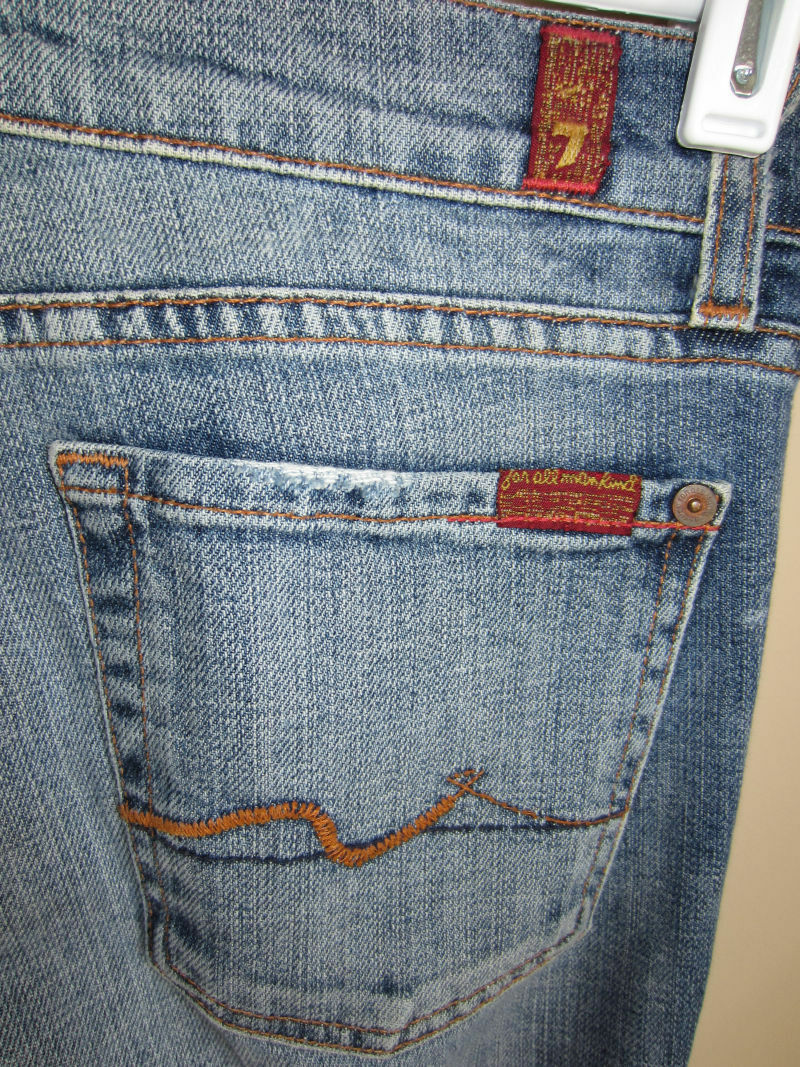 7 For All Mankind Faded Low Bootcut Jeans 27