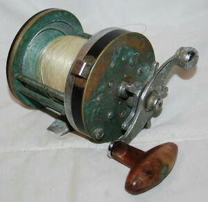 Vintage pflueger capitol saltwater fishing reel no 1988 for Used saltwater fishing reels for sale