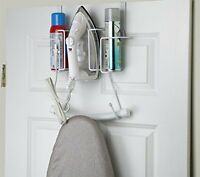 Sunbeam Over The Door Hanging Iron Board Holder And Organizer, New, Free Shippin