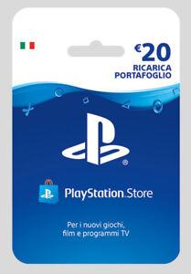 c64f975e1d Sony PSN Playstation Store Hanging Card 20 Euro Ricarica Portafoglio ...
