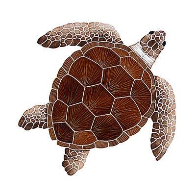 "Mosaic Loggerhead Turtles with Shadow for Swimming Pool 9/""-22/""  FREE SHIPPING"