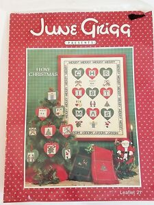 June-Grigg-I-LOVE-CHRISTMAS-Leaflet-21-amp-Cutout-Hearts-NOS-Sealed-Cross-Stitch