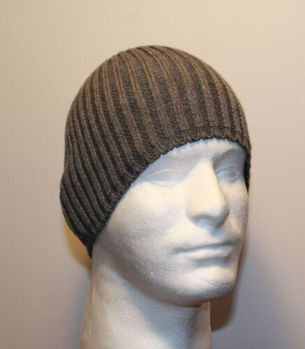 BLACK BROWN GRAY GREEN NAVY BLUE K2 FITTED RIBBED KNIT WINTER BEANIE HAT CAP