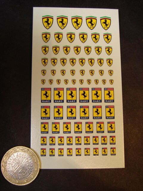 DECALS 1/43 - 1/32- 1/24 - 1/18 ECUSSONS FERRARI NART -  T71