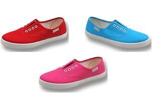 Ladies-Women-039-s-Javer-Flossy-Style-Nuevos-Zapatos-Planos-Zapatillas-De-Tenis-Elastica-eylet