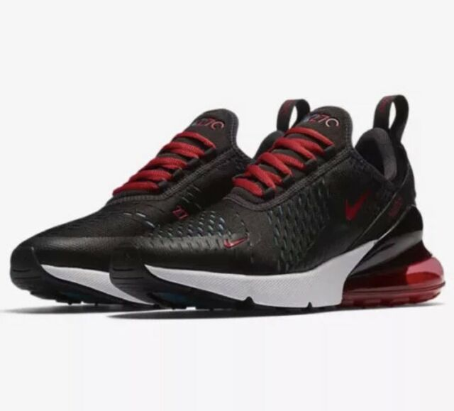 4f2f48194b NIke Air Max 270 Oil Grey/Speed Red AH6789-003 Mesh Sneakers Women's Sz