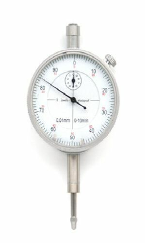 0,01 mm Ablese Messuhr 10 mm stoßgeschützt