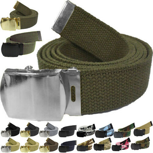 YOU CUT TO FIT 4294 Military Web Belts 100/% Cotton Military Wear Web Belts