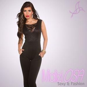 Caricamento dell immagine in corso Tuta-Elegante-donna-Overall-intera- jumpsuit-Pizzo-Zip- 2d4dce8a476