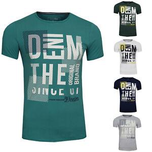 TOM TAILOR Denim Herren Sommer T-Shirt Mit Brust Print 1011972