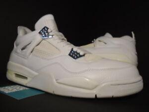 Nike Og Jordan 4 Blanco 13 06 Plata Gris Metalizado Air Retro puro Aniversario Iv dYHUSxq