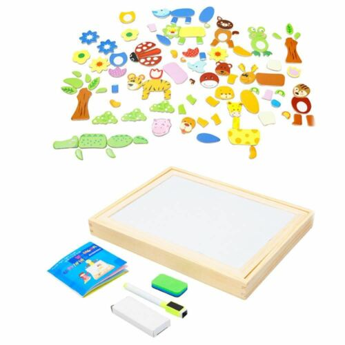Magnetic White /& Black Board Children Interactive Drawing /& Playing