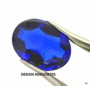 MAN MADE ROYAL BLUE SPINEL 8 MM ROUND BUFF TOP  CUT OUTSTANDING COLOR AAA