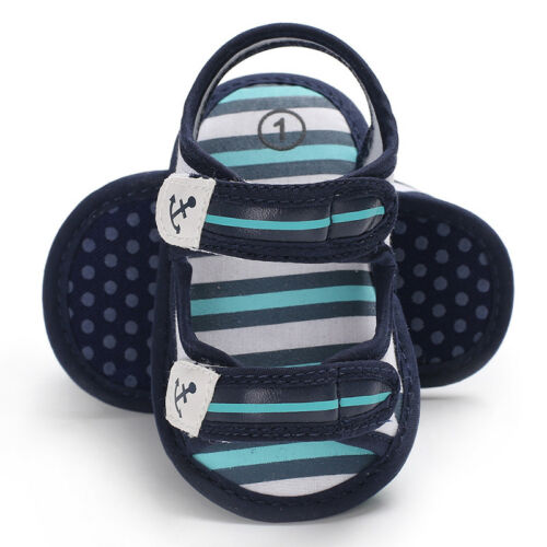Anchor Baby Boy Soft Sole Crib Shoes PreWalker Summer Sandals Newborn to 18Month
