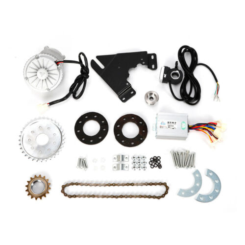 450W 36V Electric Bike Left Drive Conversion Kit Fit For Common Bicycle US STOCK