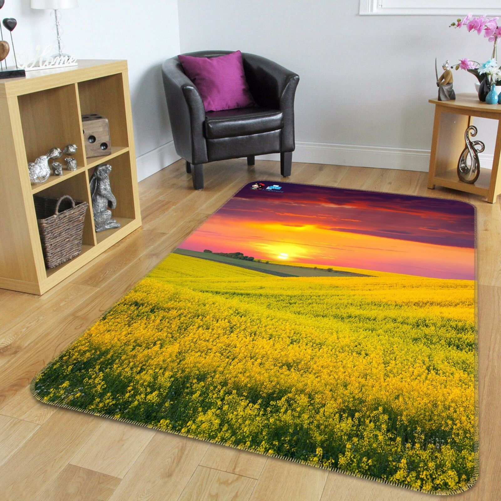3D Rape Field 404 Non Slip Rug Mat Mat Mat Room Mat Quality Elegant Photo Carpet US 115e26