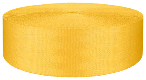 2 Inch Seat-belt Yellow Polyester Webbing Closeout 5 Yards