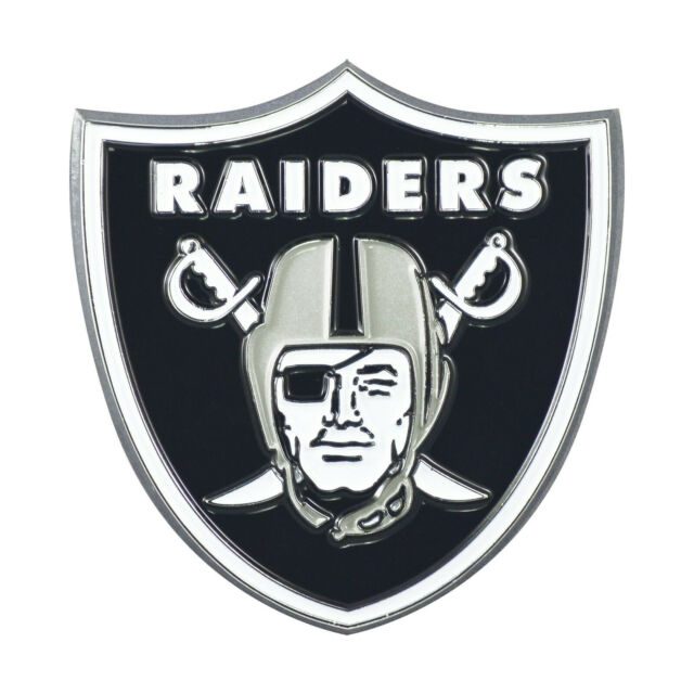 NFL Oakland Raiders Chrome Finished Auto Emblem 3D Sticker