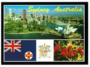 Sydney-New-South-Wales-Australia-City-Skyline-Rare-Multiview-Postcard
