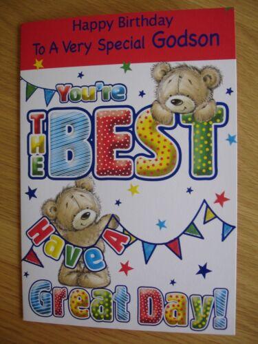 Godson birthday card ~ various designs
