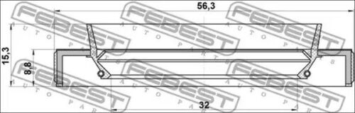 Seal drive shaft FEBEST 95HBY-34560915L