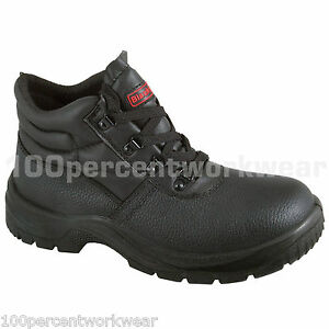 Blackrock SF02 Safety Work Black Leather Chukka Boots Shoes Steel Toe Cap Sole