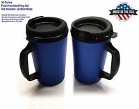 2 Thermo-serv Foam Insulated Travel Mugs 34 Oz - Blue