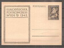 POSTKARTE ALLEMAGNE GERMANY EUROPAISCHER POSTCONGRESS WIEN 1942 THIRD REICH WW2