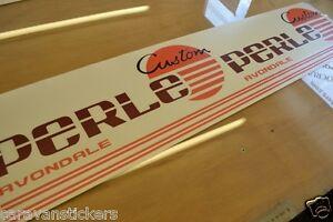 AVONDALE Perle Custom And Stripes Caravan Sticker Decal Graphic - Graphics for caravanscaravan stickers ebay