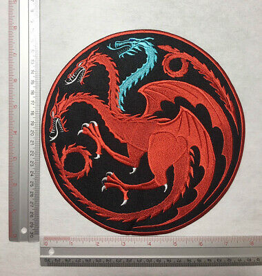 shipped from USA sew on 1 pair X-Large 11.5 inch Gold Dragon patch