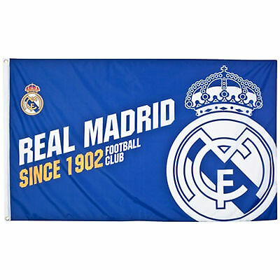 REAL MADRID CF TEAM ESTABLISHED CLUB FOOTBALL FLAG FC - LICENSED PRODUCT GIFT