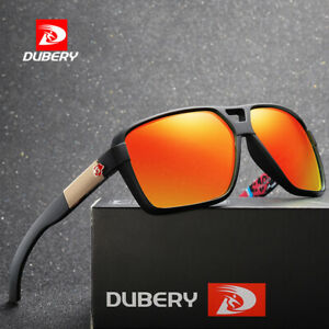 DUBERY-Men-039-s-Polarized-Sunglasses-With-Box-Outdoor-Sports-Vintage-Shades-Glasses