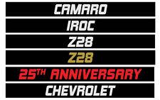 Camaro Z28 IROC 25th Anniversary Chevrolet Custom Door Handle Inserts 1982 1992