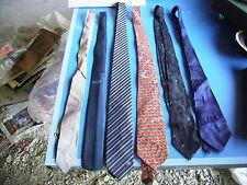 LOT 6 cravates vintage année 60 70