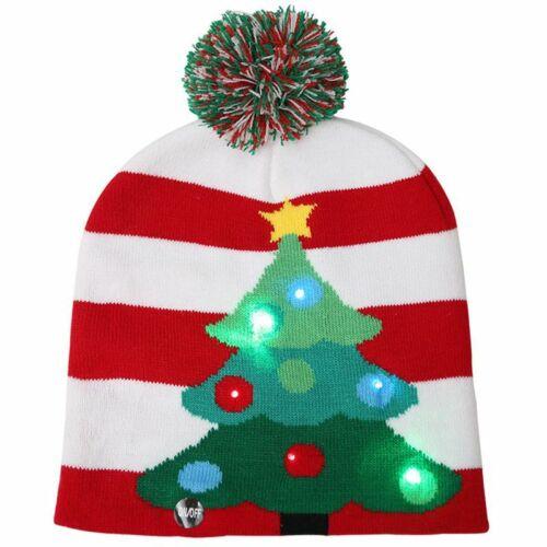 Wintermütze mit LED Licht Sternen Nikolaus Mütze Weihnachtsmütze Weihnachtsmütze
