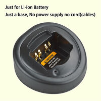 Base No Power Supply For Motorola Ex600 Walkie Talkie Li-ion Battery Charger