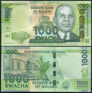 Malawi 1000 Kwacha. UNZ 01.01.2013 Banknote Kat# P.62b