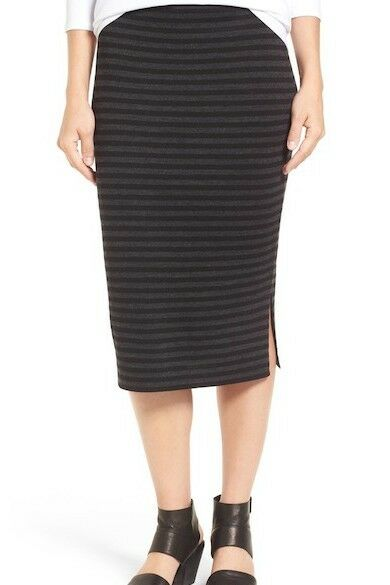 Eileen Fisher Beautiful Striped Wool Knit Pencil Skirt Size  XS NWT