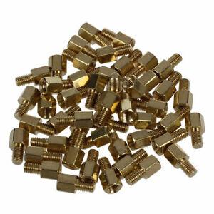 Sechskant-Abstandhalter PCB Abstandsbolzen M3 Maennlich Weiblich M3 x 5mm Sandis 50Pcs Messing Schraube